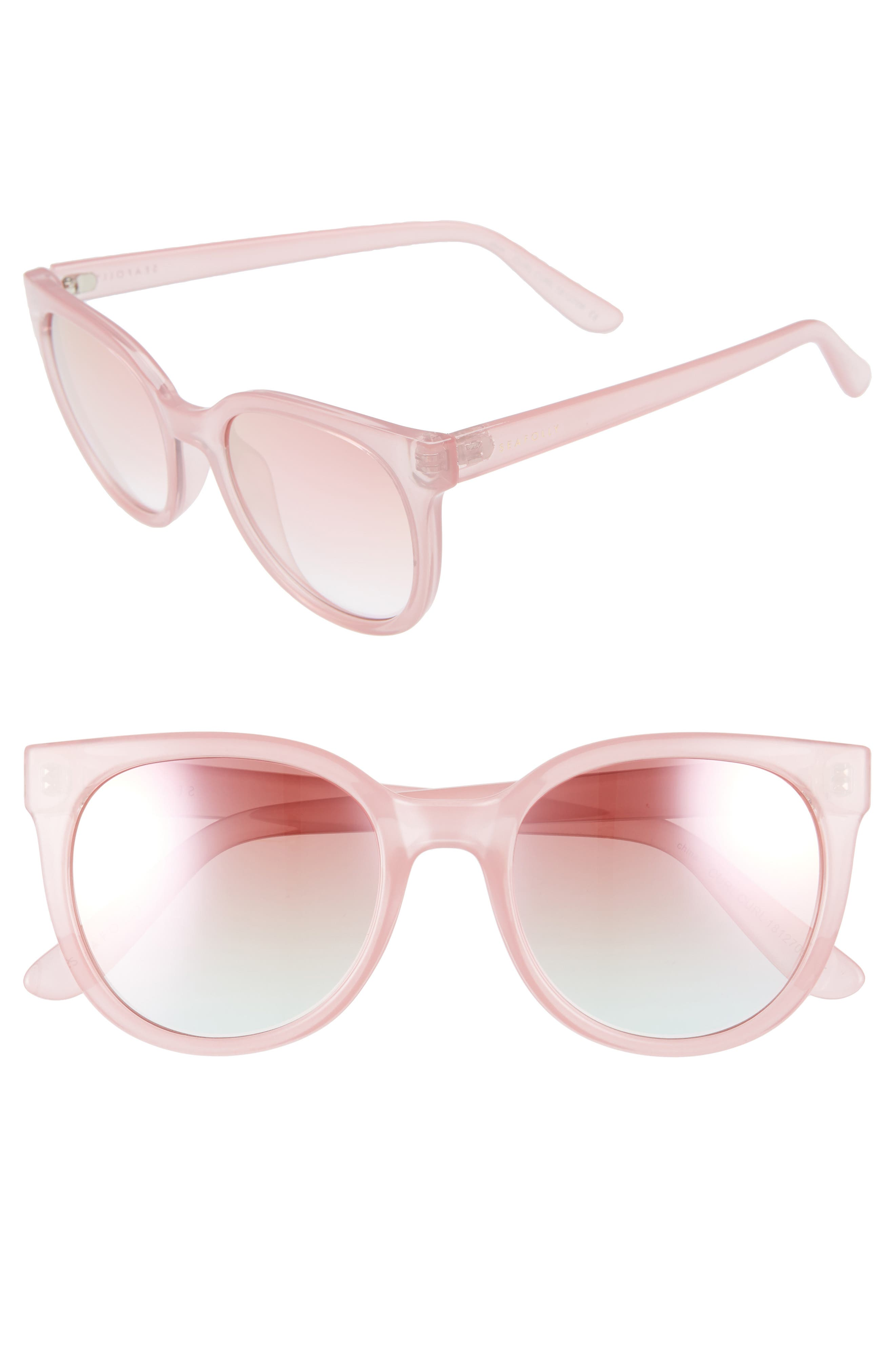SEAFOLLY CURL CURL 53MM SUNGLASSES - CANDY PINK/ PINK