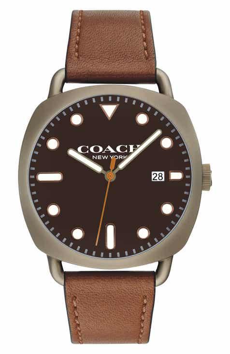 c53cd8728a31 COACH Tatum Leather Strap Watch