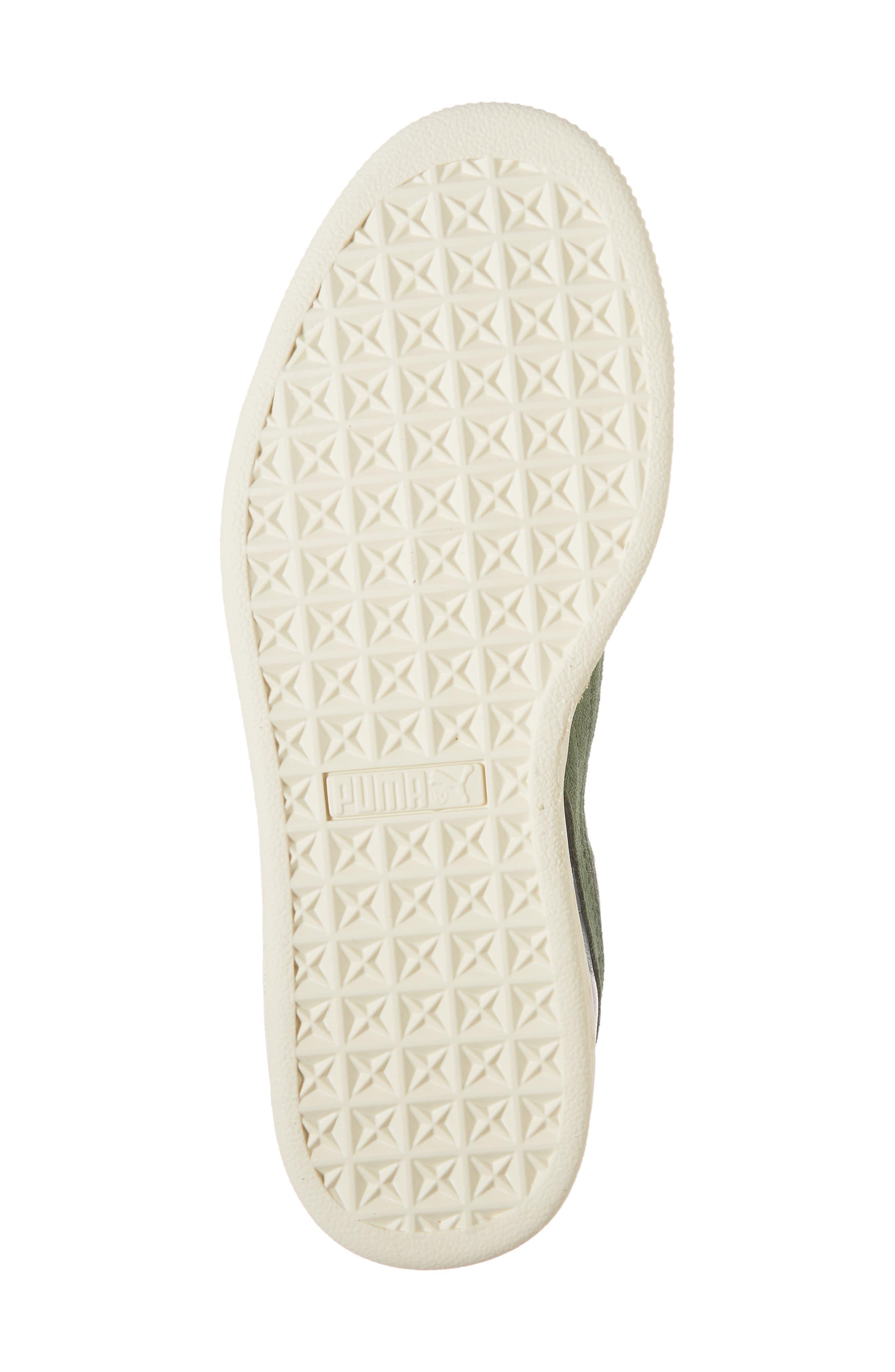 'Suede Classic' Sneaker,                             Alternate thumbnail 5, color,                             Laurel Wreath-White-Orchid