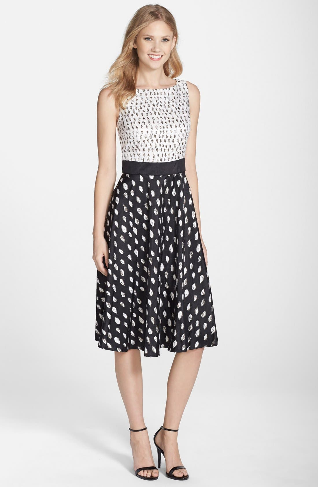 Alternate Image 1 Selected - Gabby Skye Print Shantung Fit & Flare Dress