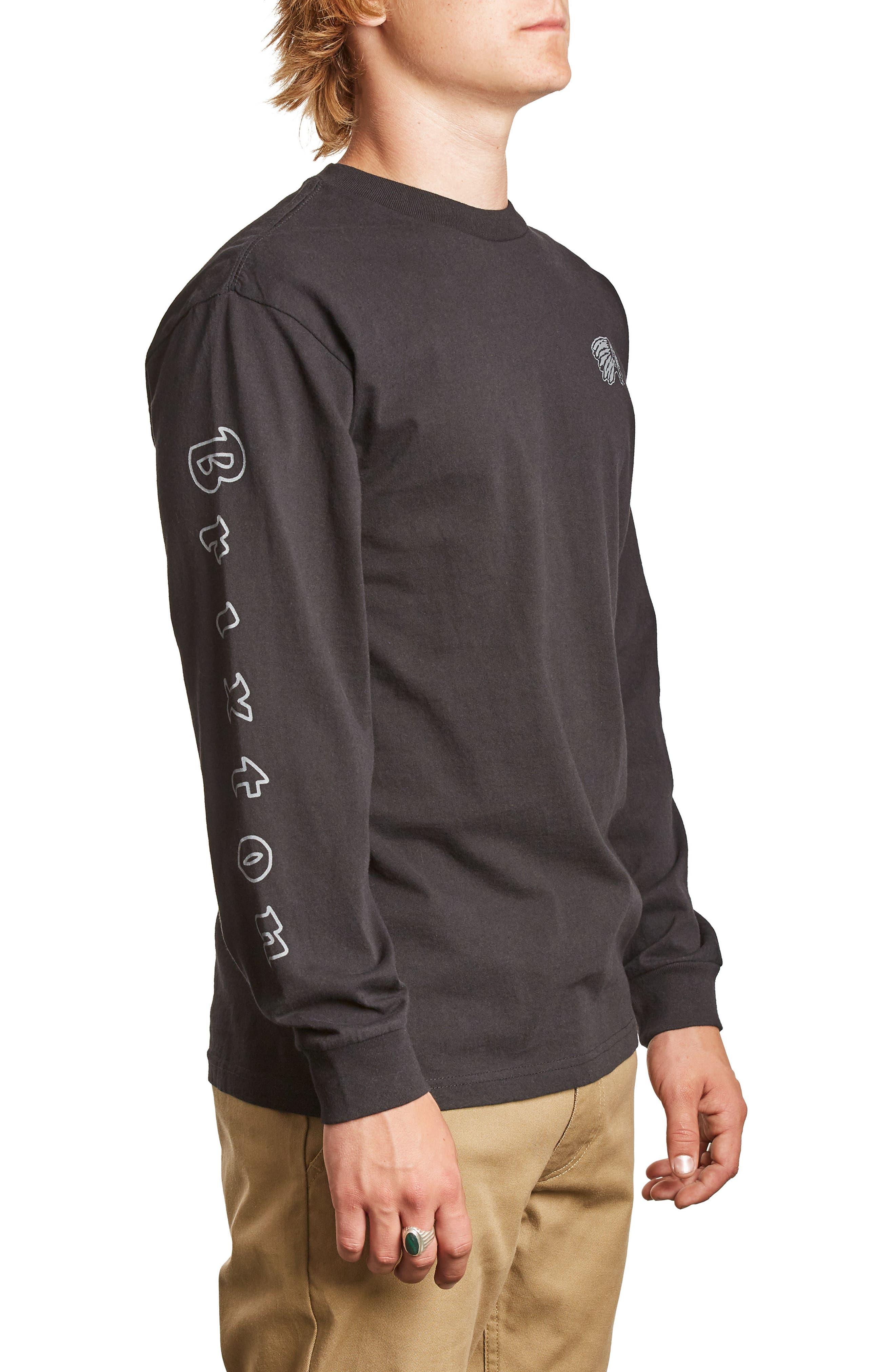 Primo T-Shirt,                             Alternate thumbnail 3, color,                             Washed Black