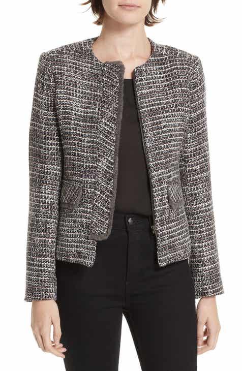 Helene Berman Concealed Front Fringe Trim Jacket