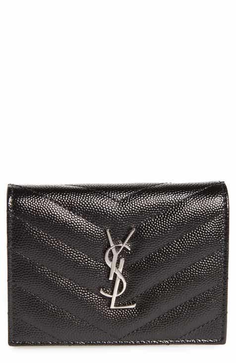 36e360ead7f1 Saint Laurent Monogram Quilted Leather Card Case