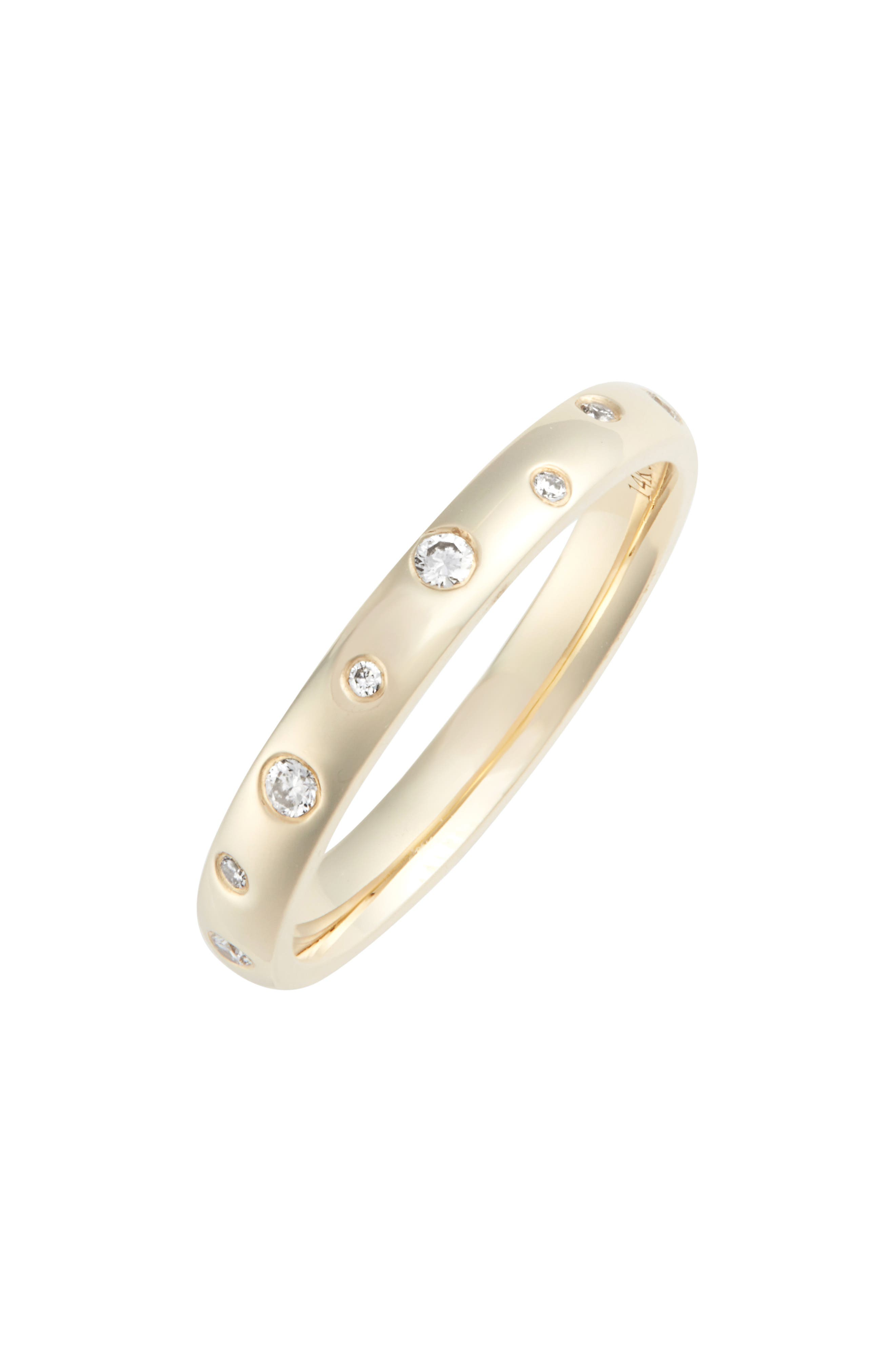 EF COLLECTION DIAMOND SPECKLED STACKING RING