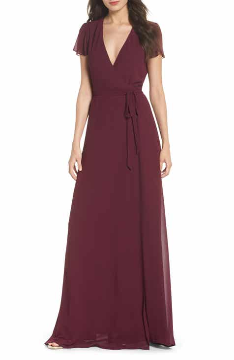 Womens Wrap Formal Dresses Nordstrom
