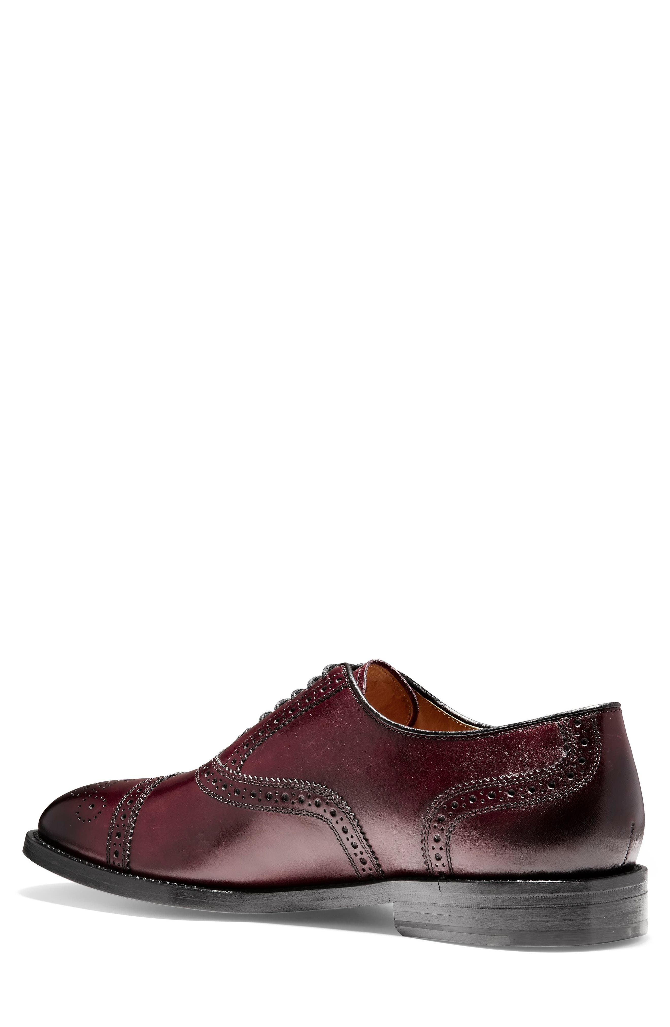 American Classics Kneeland Cap Toe Oxford,                             Alternate thumbnail 3, color,                             Oxblood Leather