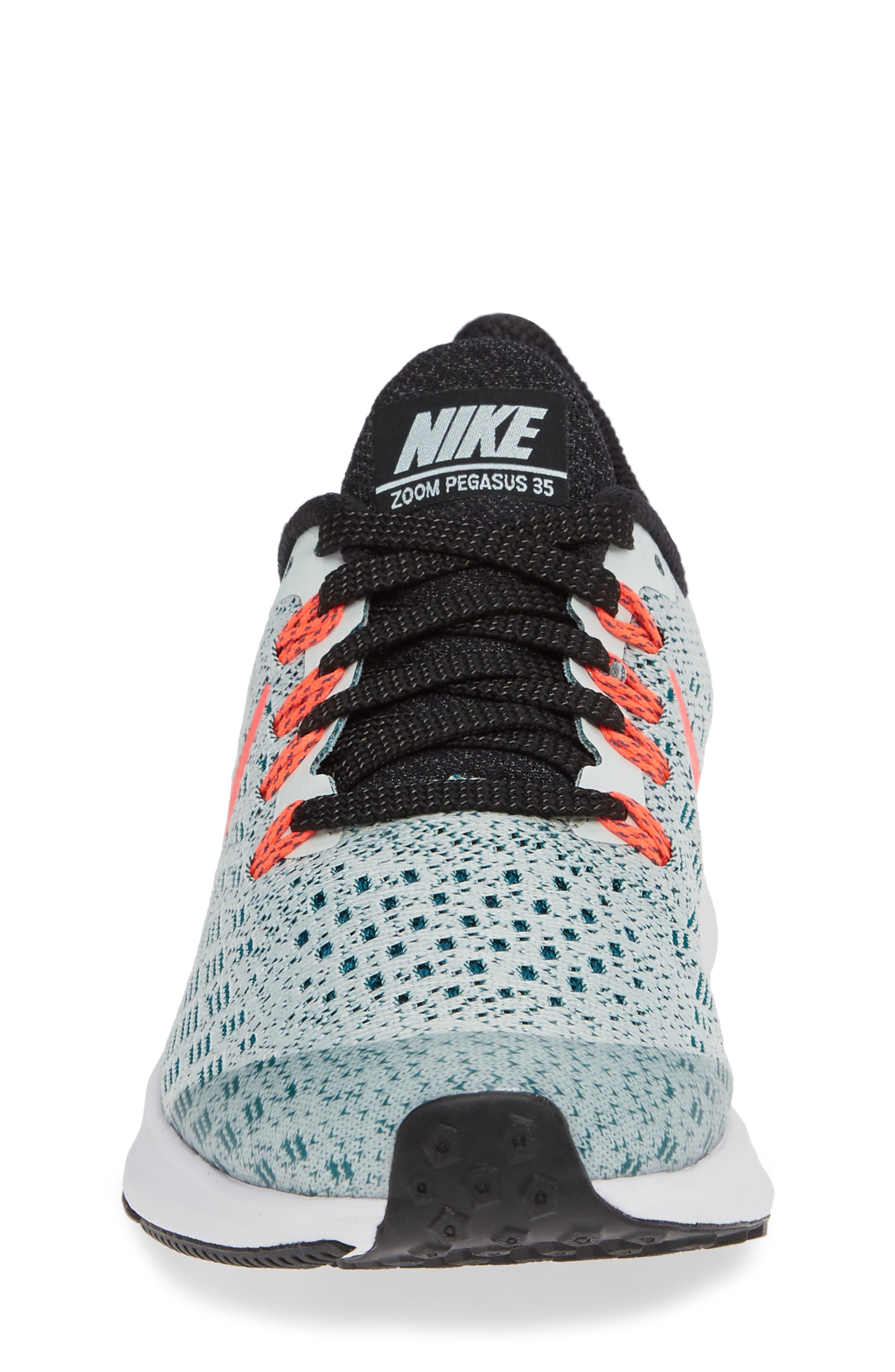 Air Zoom Pegasus 35 Sneaker,                             Alternate thumbnail 6, color,                             Grey/ Hot Punch/ Teal/ Black
