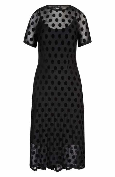9946f90f956e1 City Chic Spot Flock Dress (Plus Size)