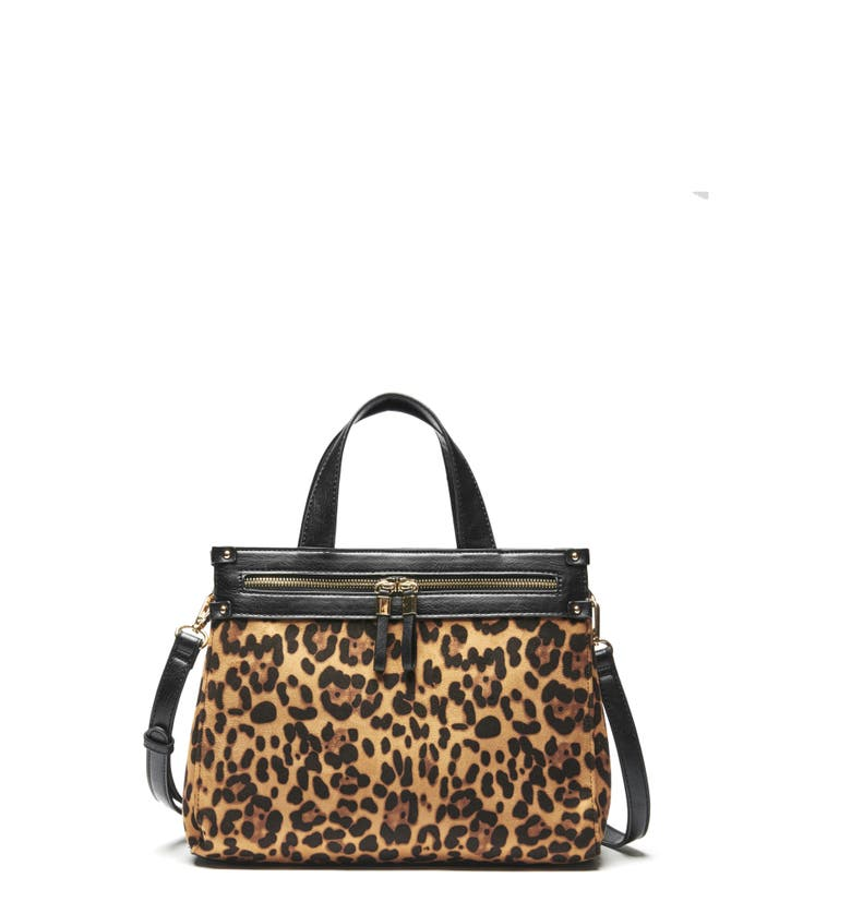 Faux Leather Leopard Print Satchel | Nordstrom