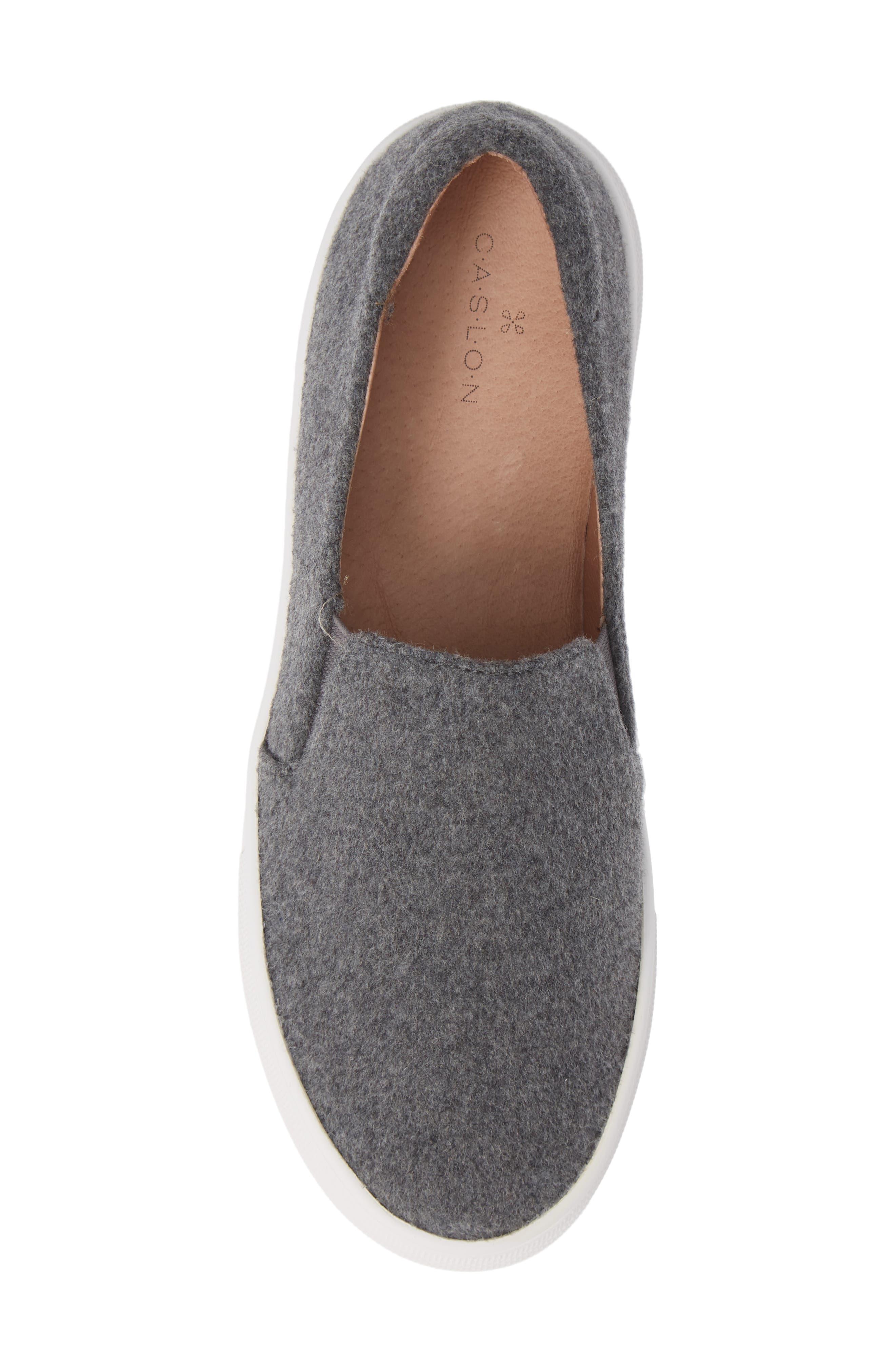 Alden Slip-On Sneaker,                             Alternate thumbnail 5, color,                             Stone Boiled Wool