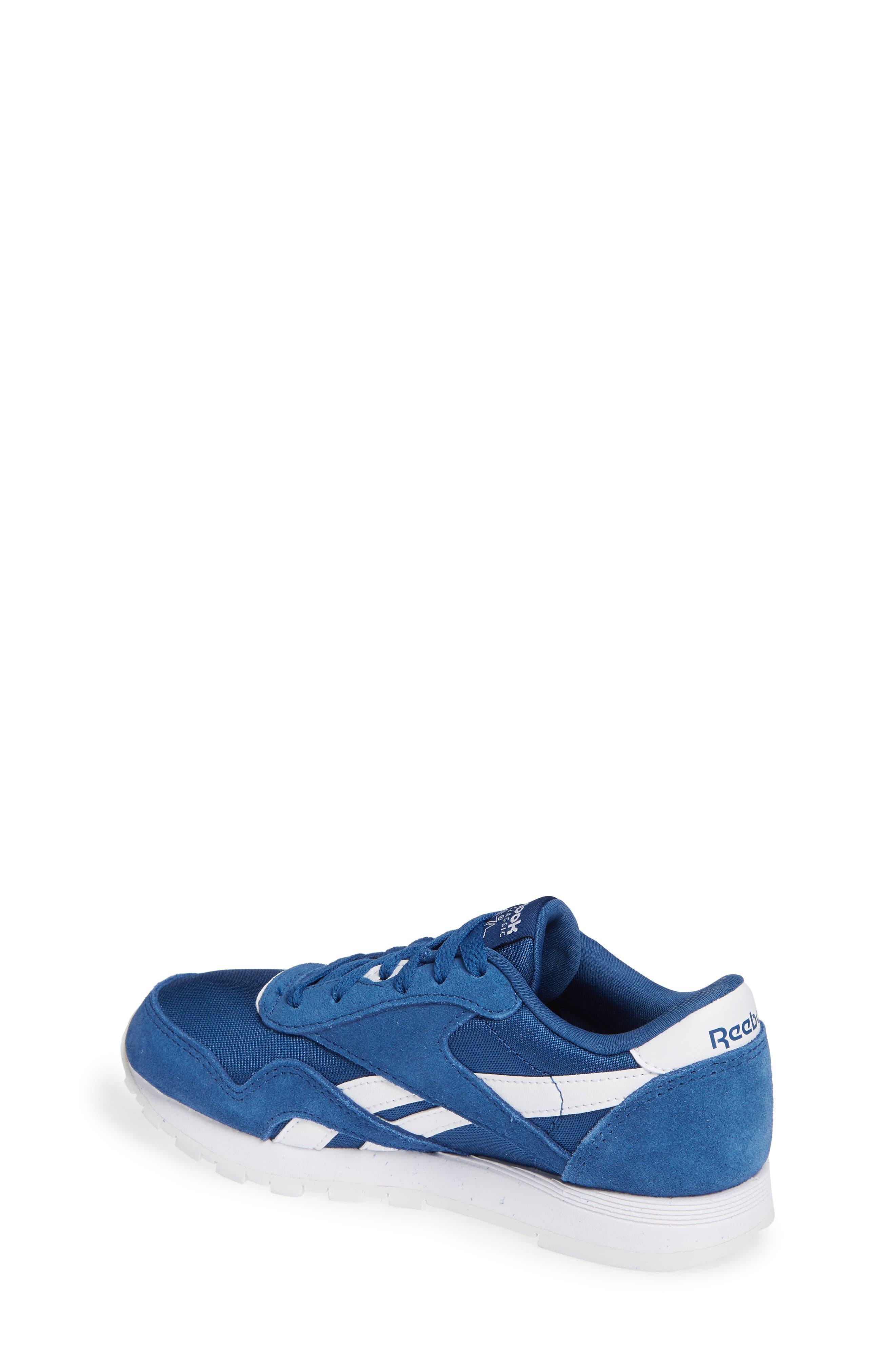 Classic Nylon Sneaker,                             Alternate thumbnail 2, color,                             Bunker Blue/ White