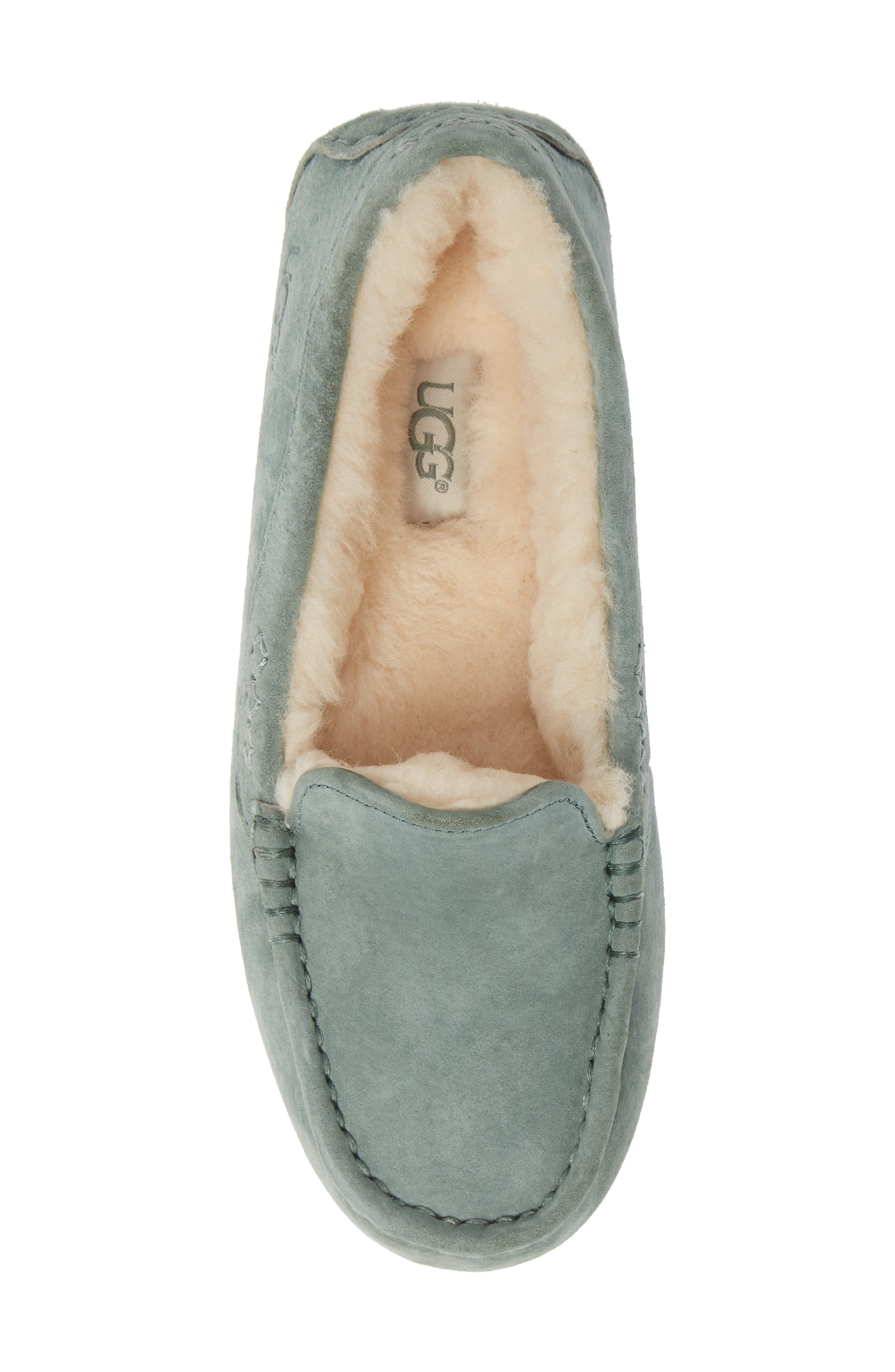 Ansley Water Resistant Slipper,                             Alternate thumbnail 6, color,                             Sea Green