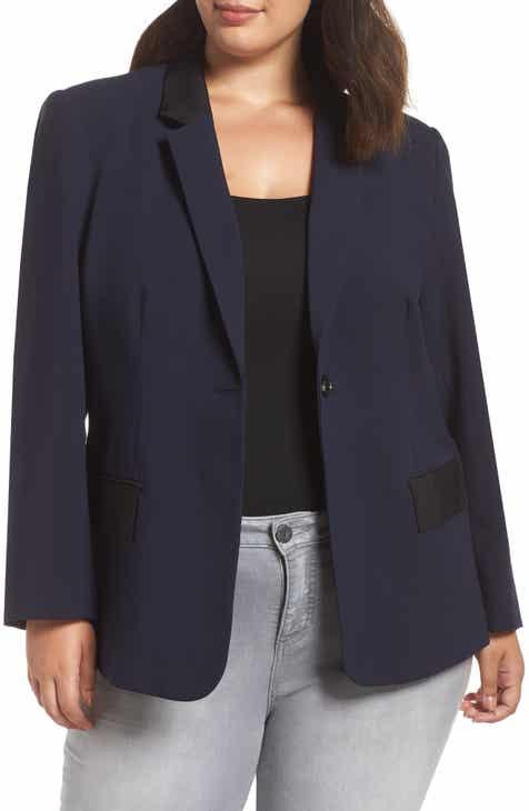 1.STATE Classic Crepe Blazer (Plus Size)