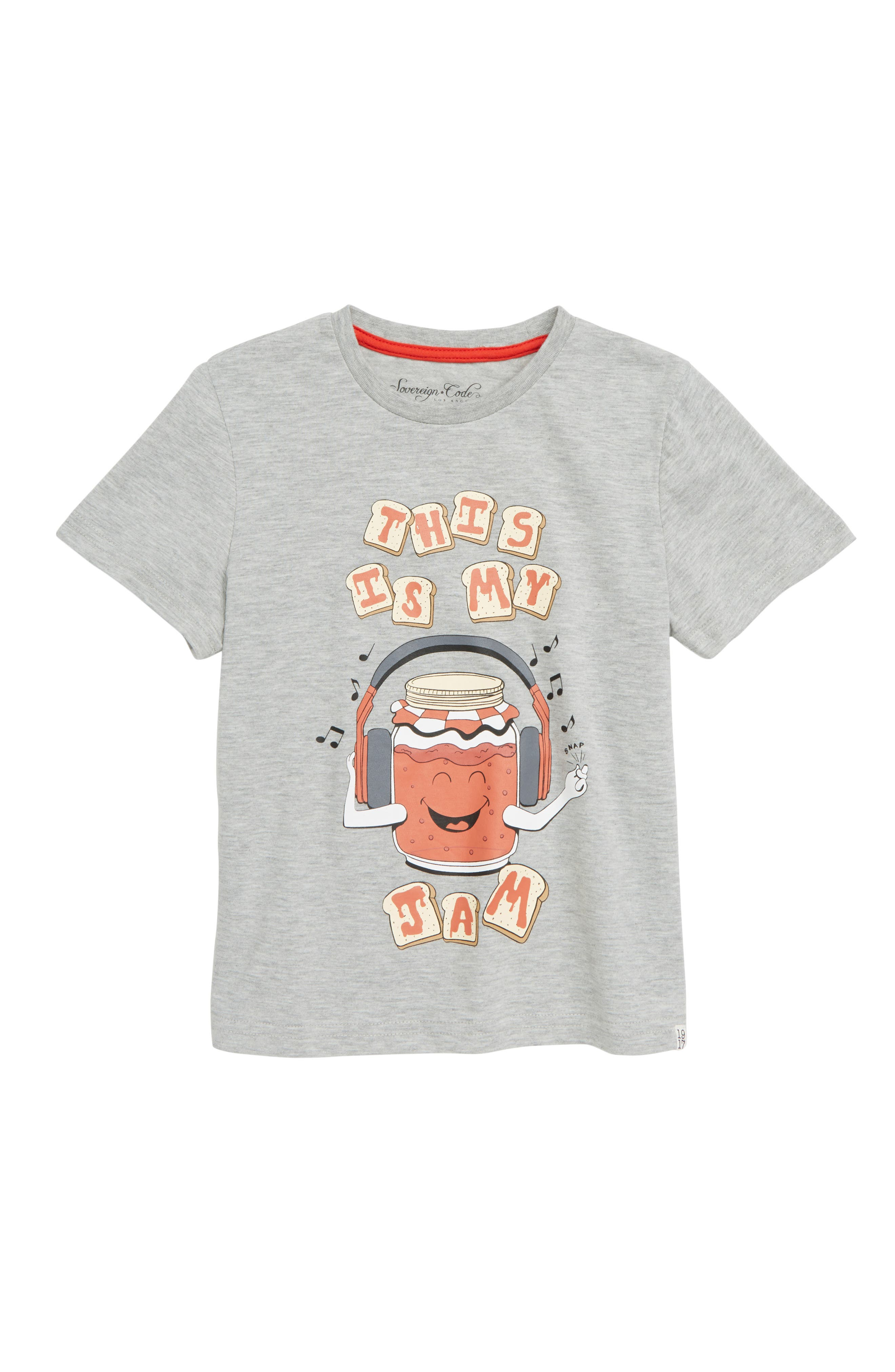 Rome Bronuts Graphic T-Shirt,                         Main,                         color, Jam/ Heather Grey