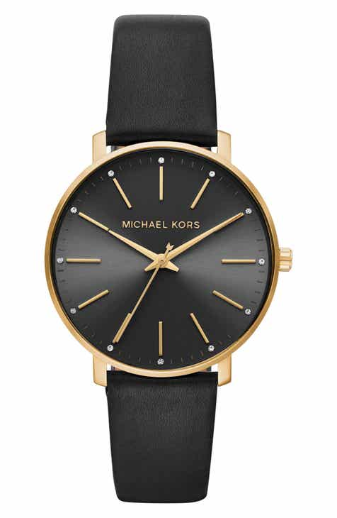 065df24c1e Michael Kors Pyper Leather Strap Watch, 38mm