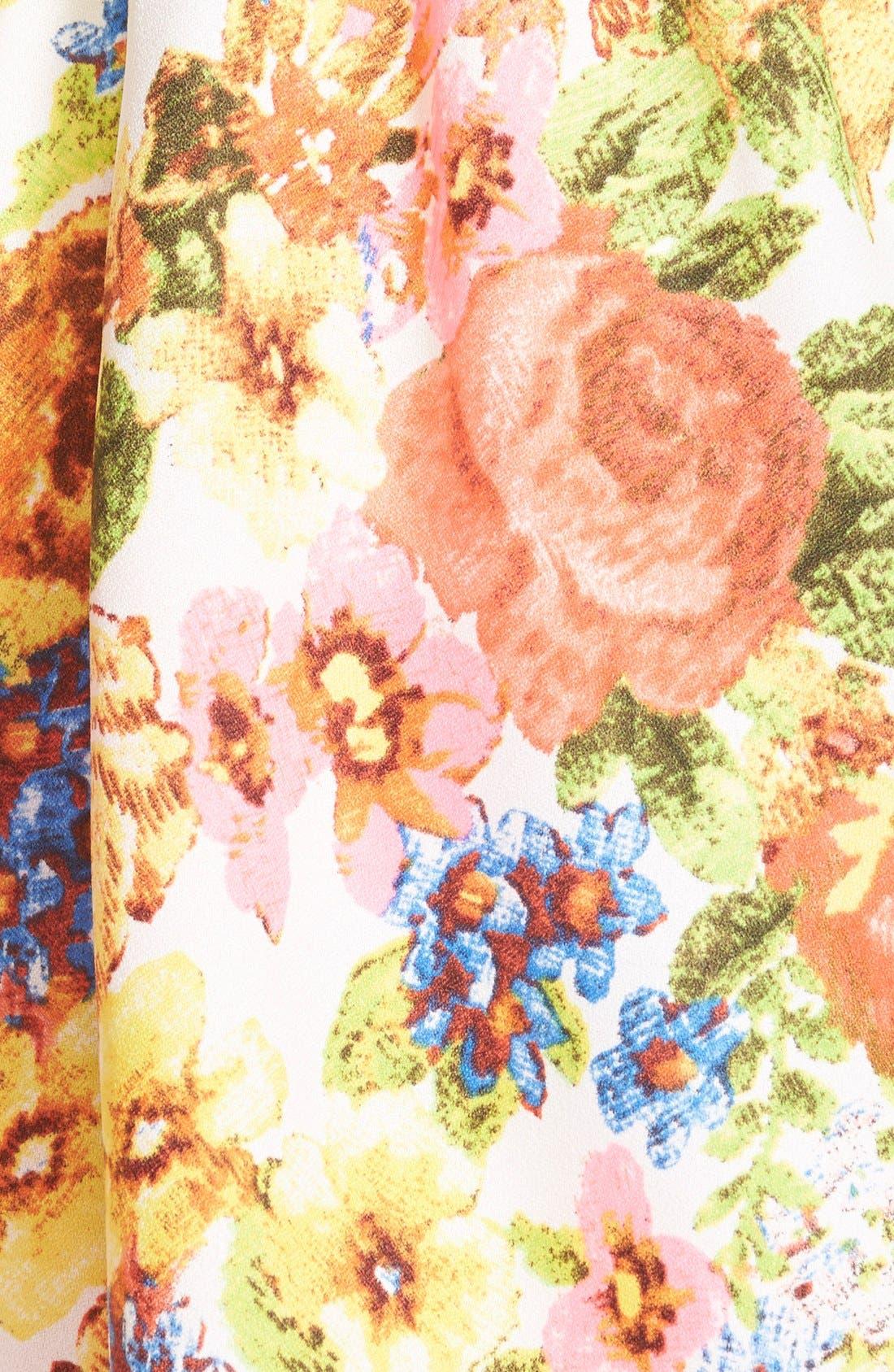 Alternate Image 3  - En Crème Floral Print Skater Dress