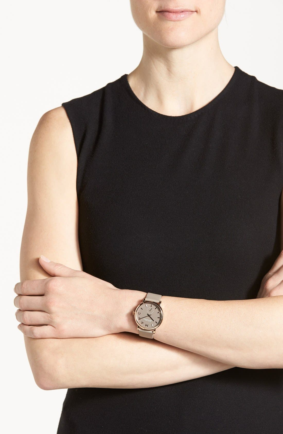 Alternate Image 4  - MARC JACOBS 'Baker' Leather Strap Watch, 37mm