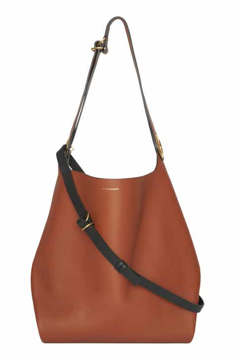 877eb5a9c6a Burberry Grommet Medium Leather Hobo