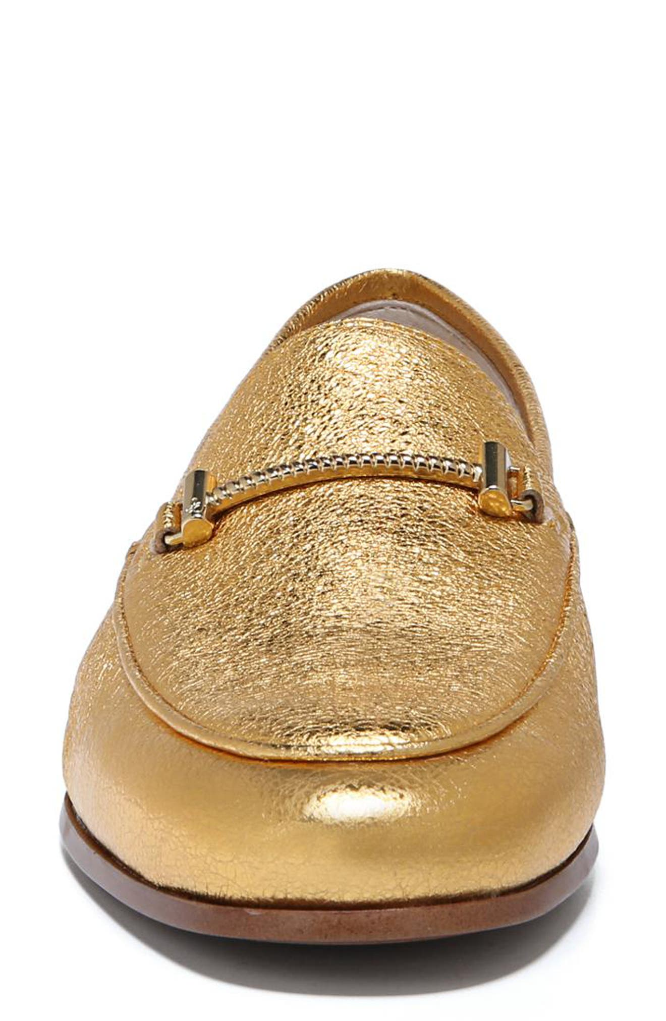 Lior Loafer,                             Alternate thumbnail 3, color,                             Exotic Gold Leather