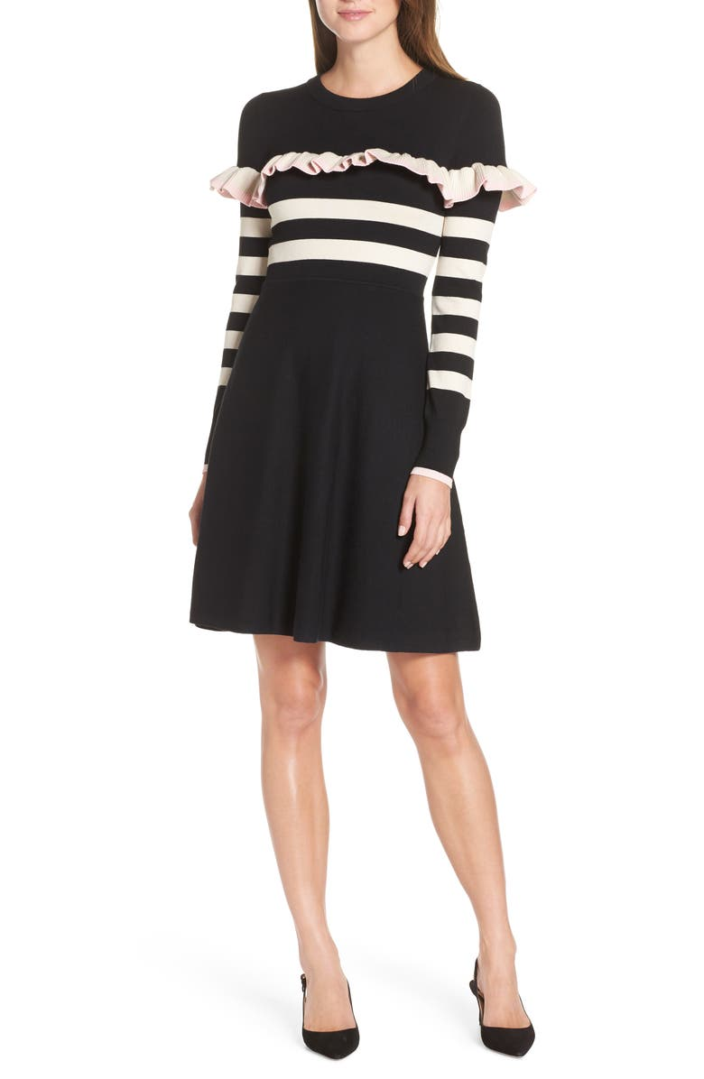 1901 Ruffle Front Sweater Dress (Regular & Petite) | Nordstrom