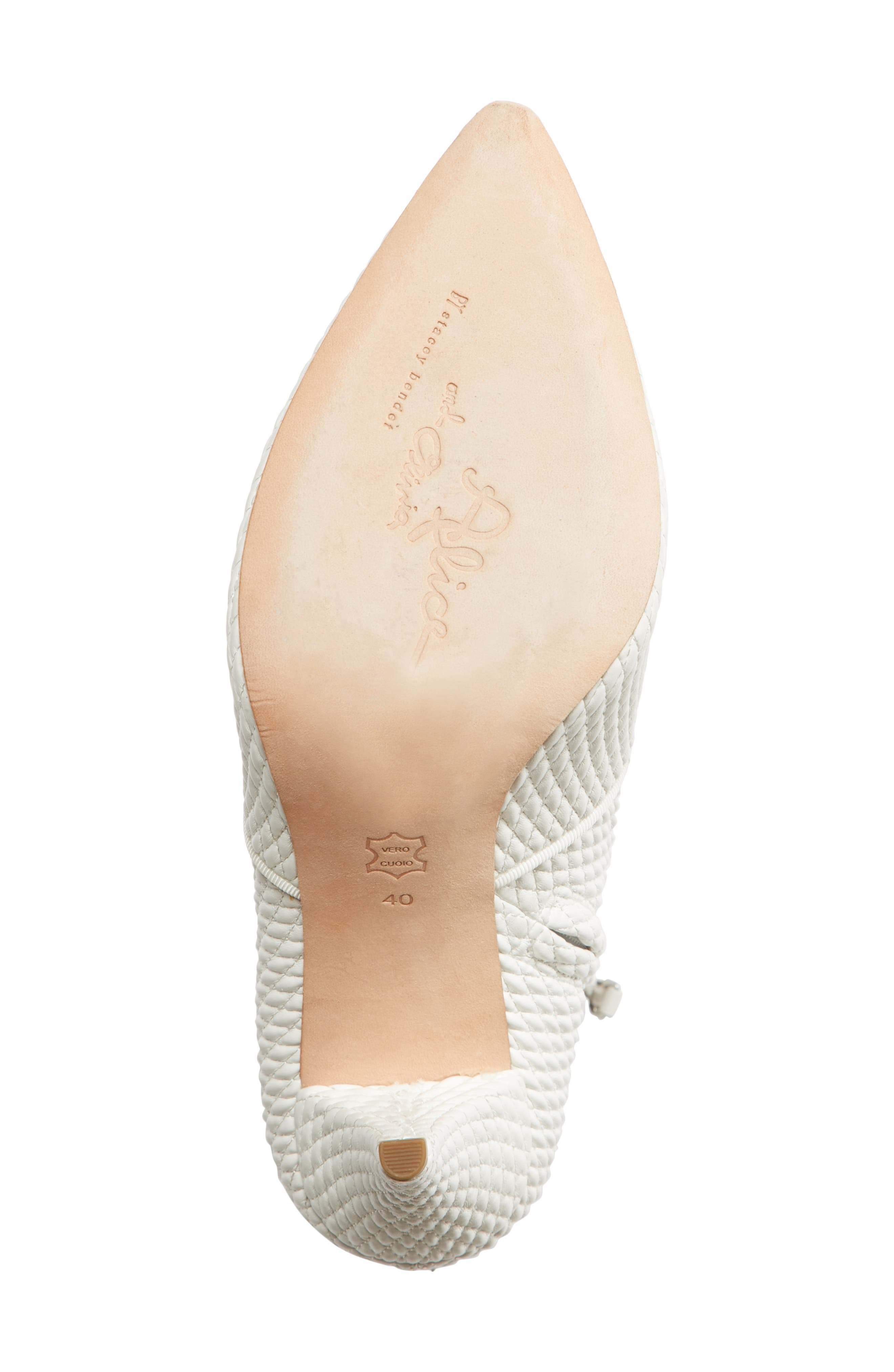 Hedde Pointy Toe Bootie,                             Alternate thumbnail 6, color,                             White