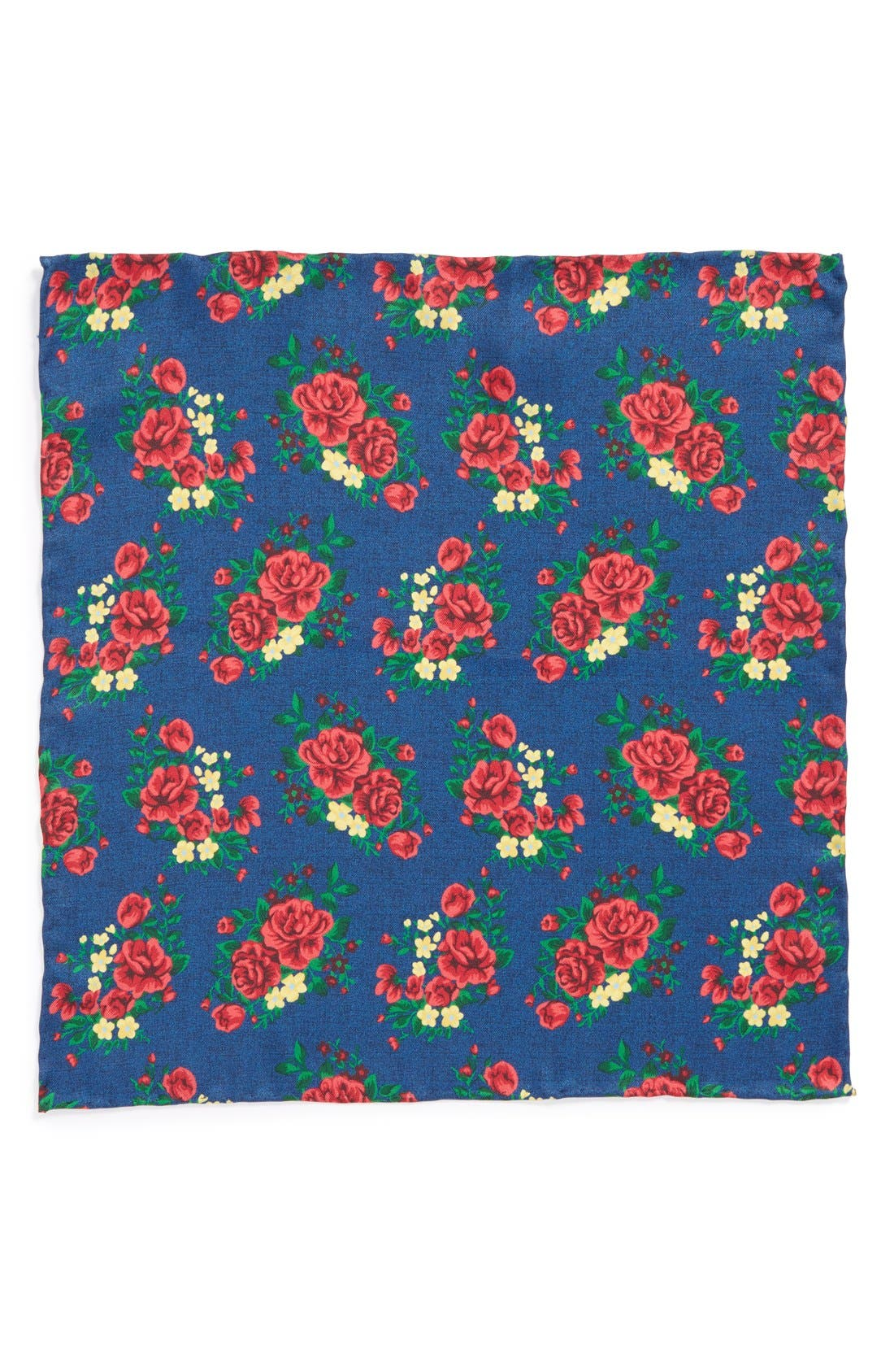 Alternate Image 2  - The Tie Bar Floral Silk Pocket Square (Online Only)