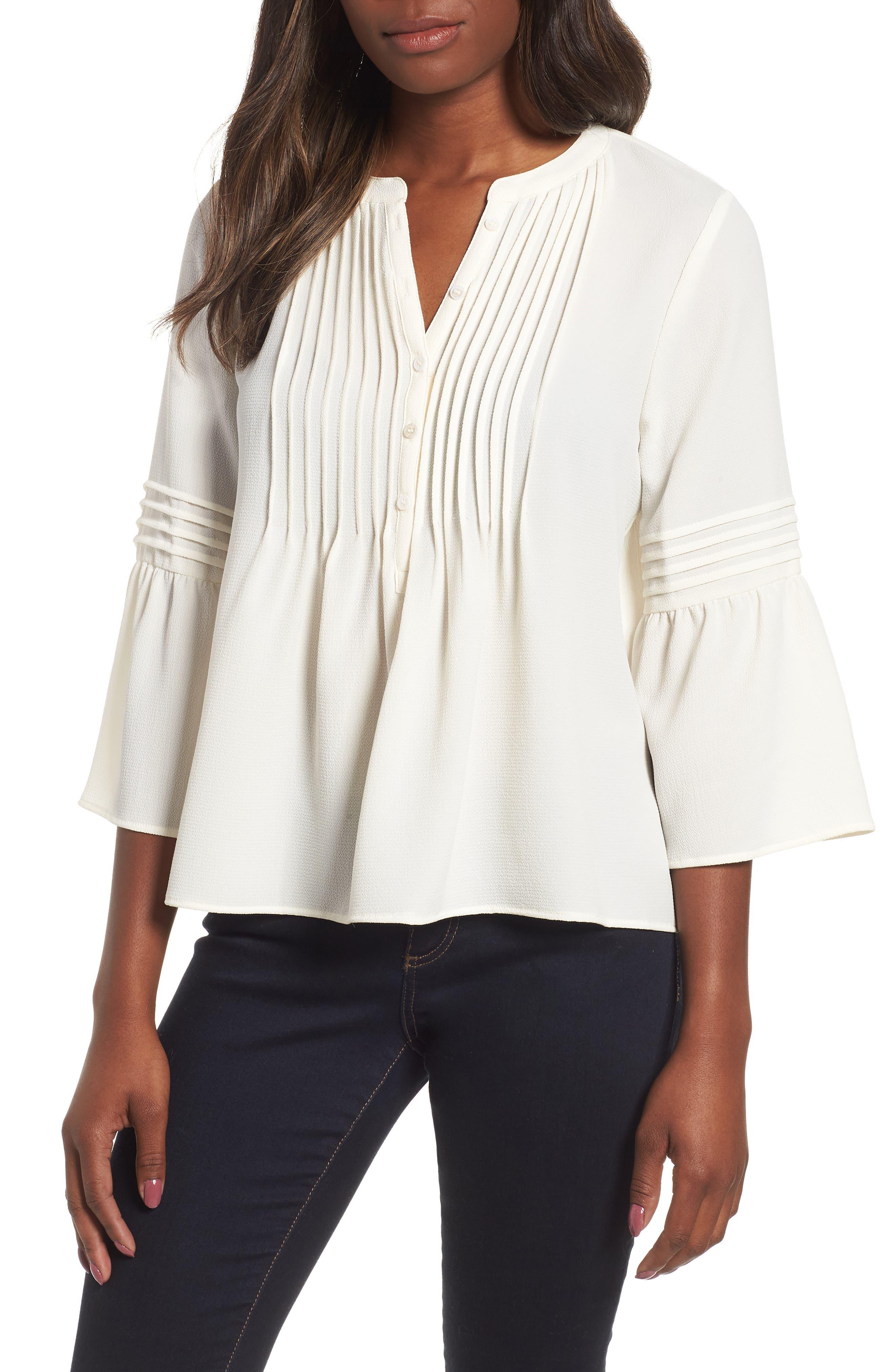 1078b3e1e8644f ruffle sleeve blouse