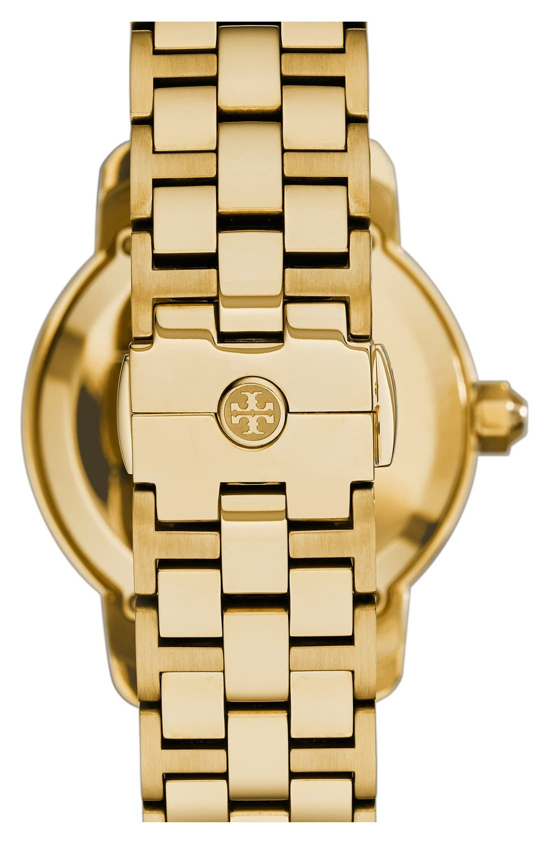 Alternate Image 6  - Tory Burch 'Tory' Large Round Bracelet Watch, 37mm