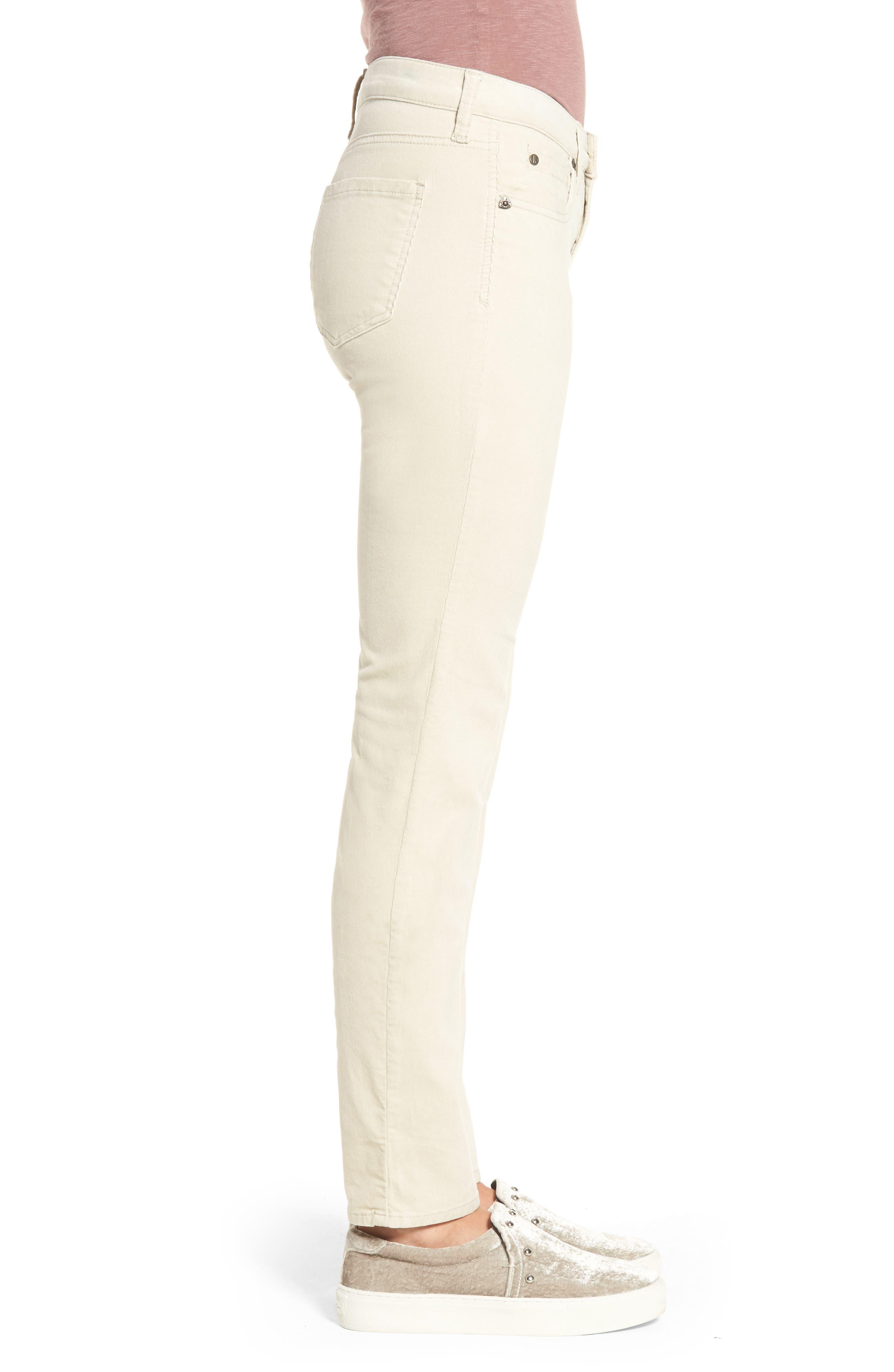 Diana Stretch Corduroy Skinny Pants,                             Alternate thumbnail 3, color,                             Light Tan 2