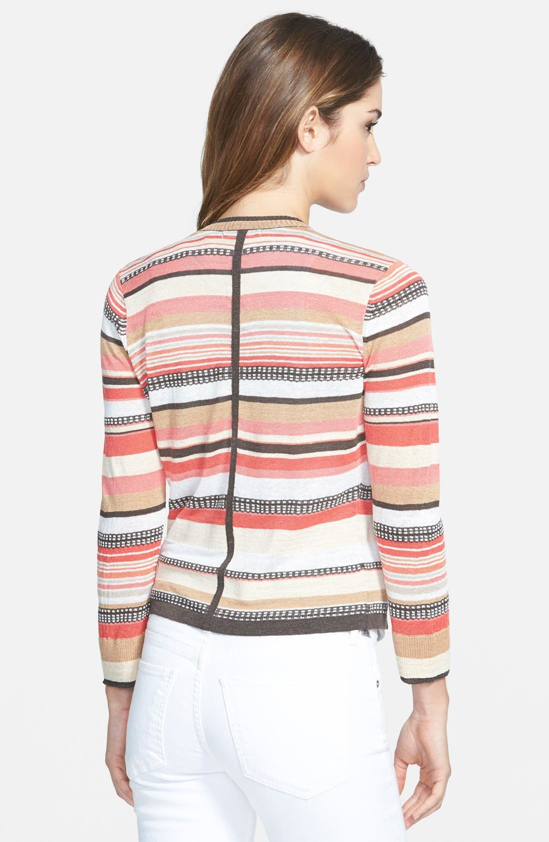 Alternate Image 2  - NIC+ZOE 'Bright Stripe' Cardigan (Regular & Petite)
