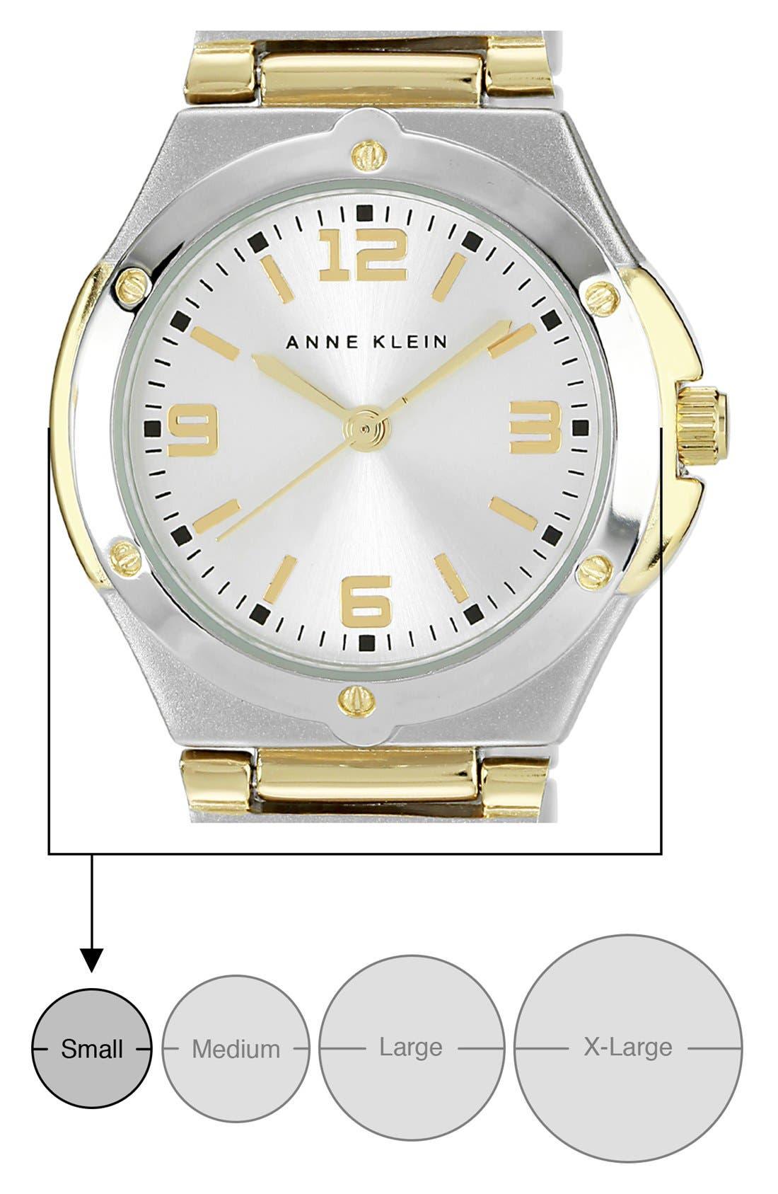 Alternate Image 4  - Anne Klein Silver Dial Bracelet Watch, 25mm