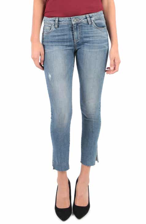 98b15362a559 KUT from the Kloth Reese Side Slit Ankle Straight Leg Jeans (Regular    Petite) (Creation)