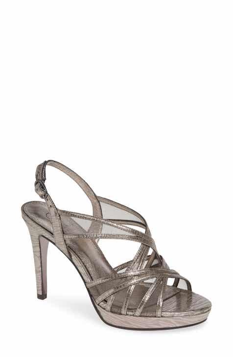23702093547f Adrianna Papell Women s Metallic Detail Sandals