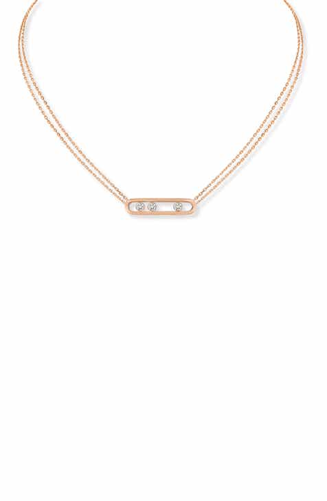 b9bde3df4717de Messika Two Strand Move Diamond Necklace