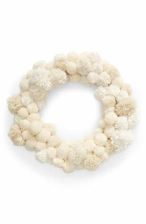nordstrom at home pom wreath - Nordstrom Christmas Decorations