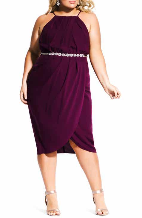 aee3b25b2b City Chic In Love Faux Wrap Dress (Plus Size)