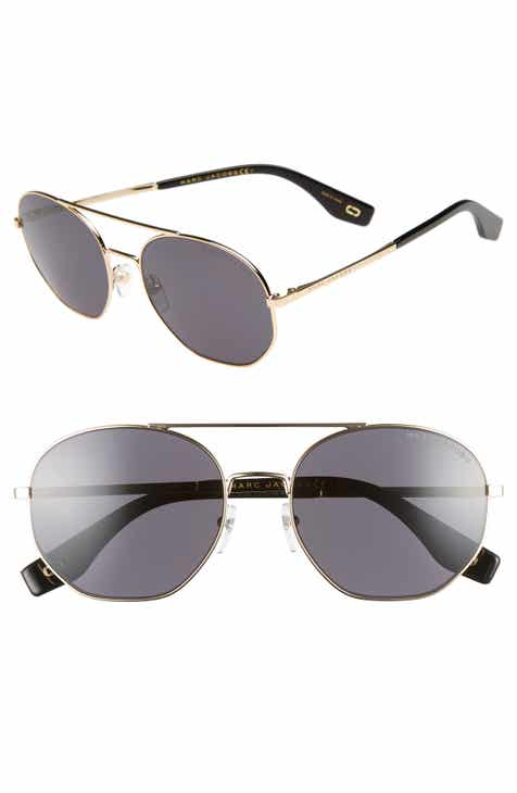 466235ddbf8d MARC JACOBS 57mm Round Aviator Sunglasses