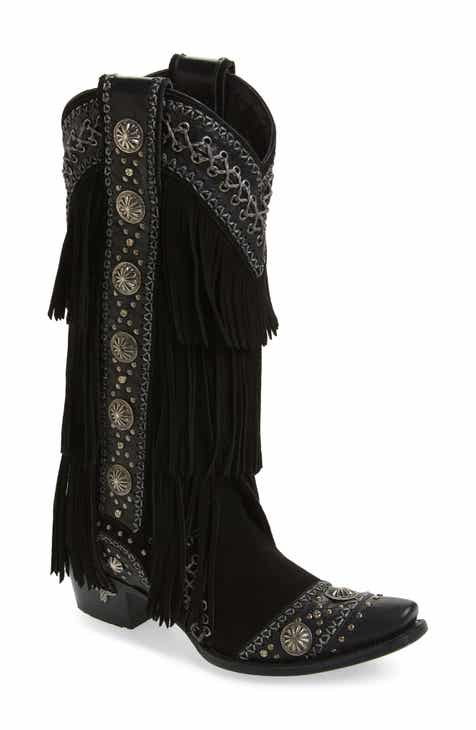 dc8c40cb5090 LANE BOOTS Wind Walker Fringe Knee High Western Boot (Women)
