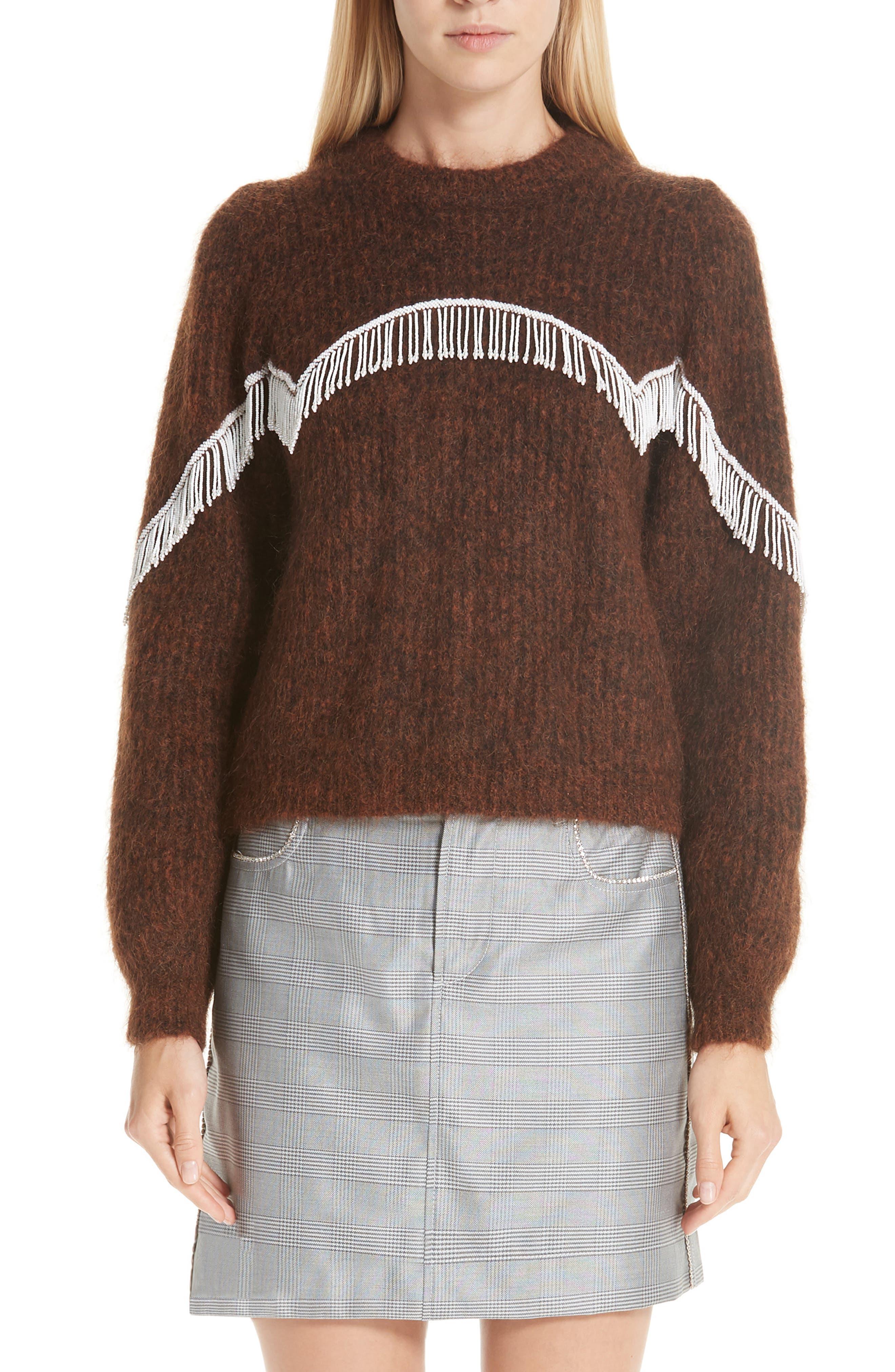 Suéter mohair mezcla de de de punto Ganni con r7wxrgZ 52c831974209
