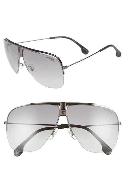 4bf11abb878 Carrera Eyewear 64mm Metal Aviator Sunglasses