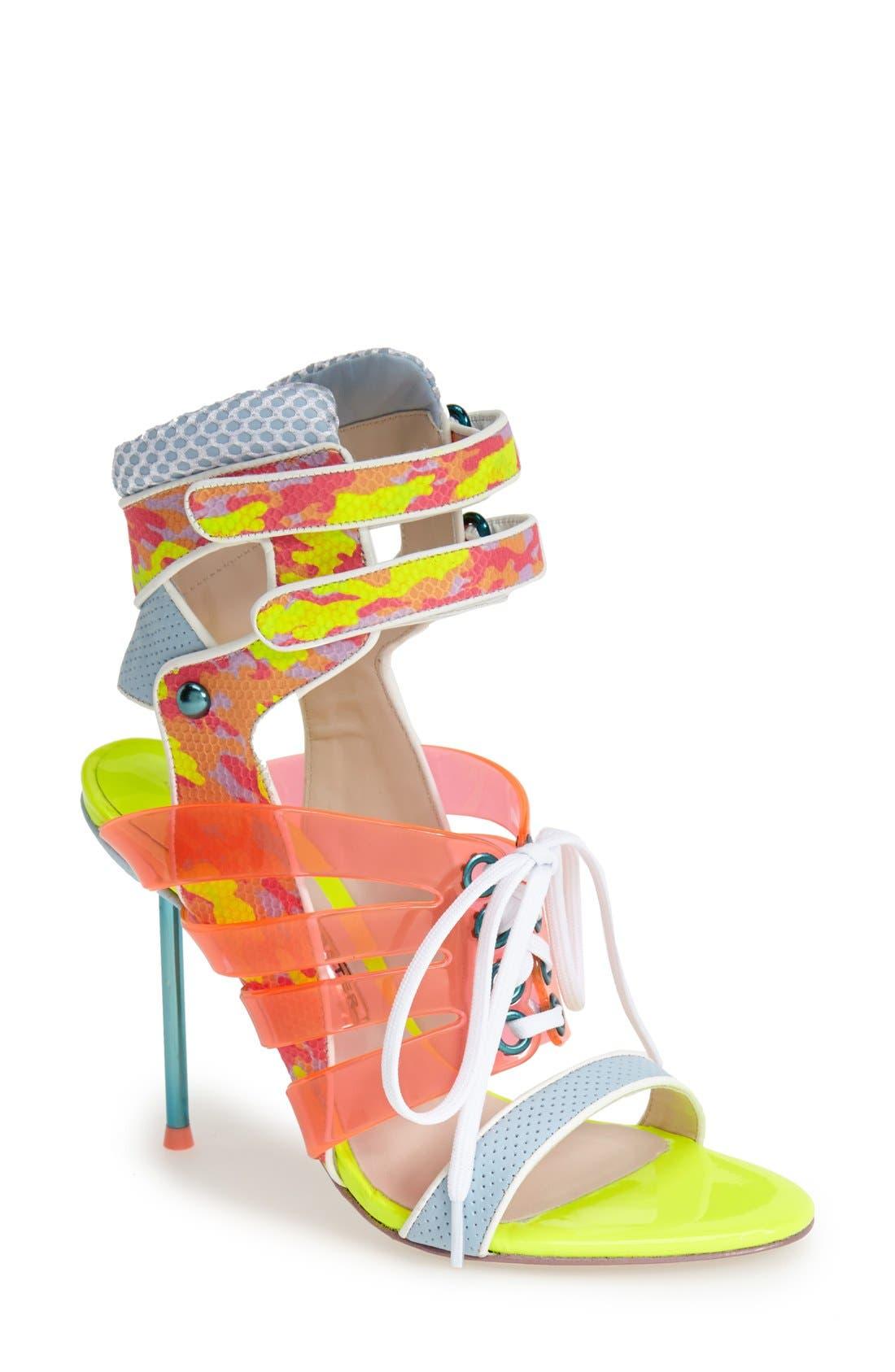 Alternate Image 1 Selected - Sophia Webster 'Jourdan' Mixed Media Bootie (Women)