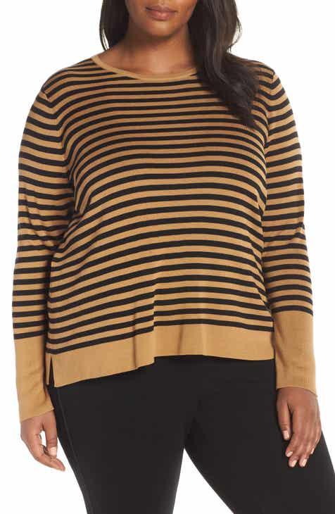 Eileen Fisher Tencel® Lyocell & Silk Sweater (Regular, Petite & Plus Size) by EILEEN FISHER