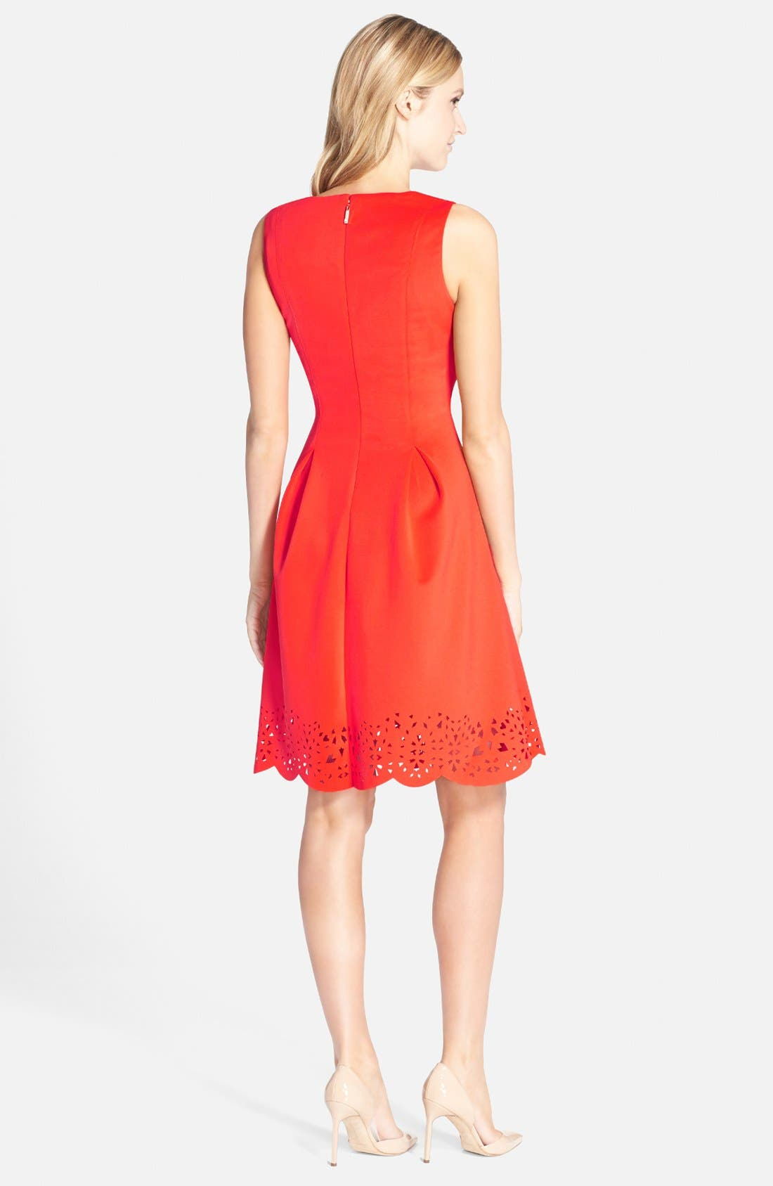Alternate Image 2  - Ivanka Trump Lasercut Scuba Fit & Flare Dress