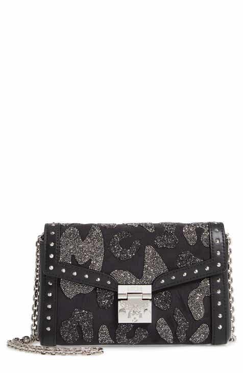 Mcm Millie Crystal Embellished Crossbody Bag
