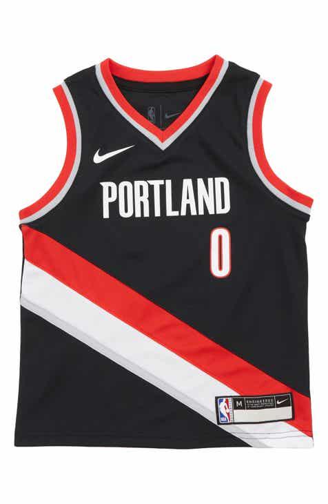 Nike Portland Trail Blazers Damian Lillard Basketball Jersey (Little Boys)