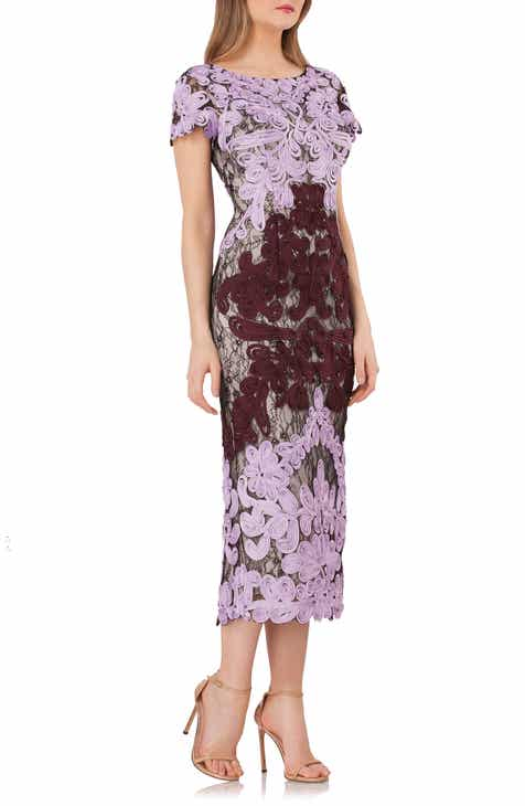 a90ba0dd9da JS Collections Soutache Lace Midi Dress