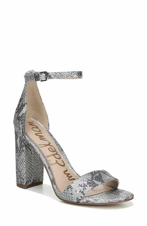 cfedbb58918a Metallic Block-Heel Sandals for Women