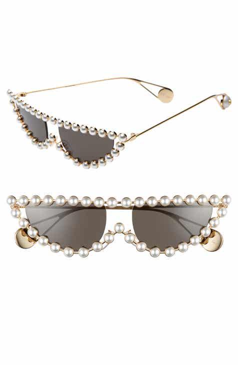7af7c84e459 Gucci 53mm Crystal Embellished Cat Eye Sunglasses