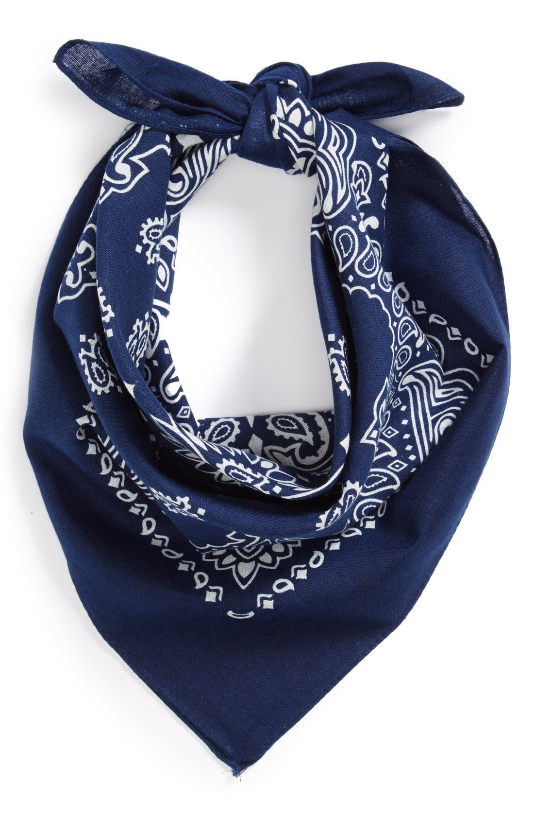 Alternate Image 1 Selected - Topman Paisley Print Bandana