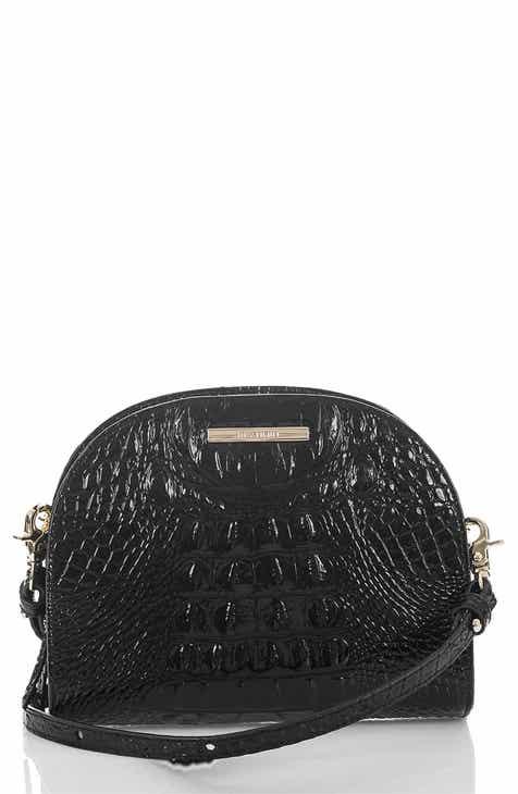 fda072f054 Brahmin Leah Croc Embossed Leather Crossbody Bag